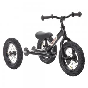 Balansinis dviratukas-triratukas Trybike Steel 2-in-1, juodas