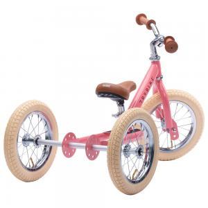 Balansinis dviratukas-triratukas Trybike Steel 2-in-1, Vintažinis rožinis