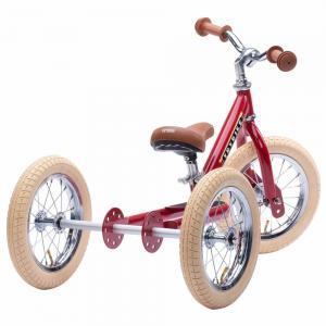 Balansinis dviratukas Trybike Steel 2-in-1, Vintažinis raudonas