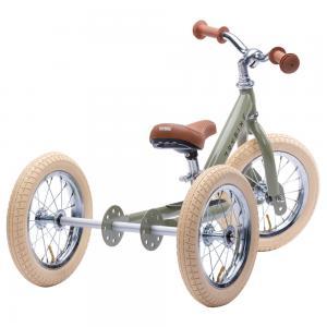 Balansinis dviratukas Trybike Steel 2-in-1, Vintažinis žalias