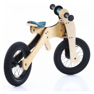 Balansinis dviratukas Trybike Wood 4-in-1, mėlynas