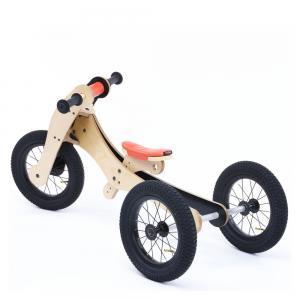 Balansinis dviratukas Trybike Wood 4-in-1, oranžinis