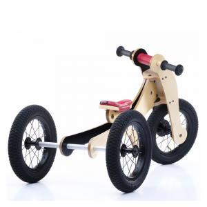 Balansinis dviratukas Trybike Wood 4-in-1, raudonas