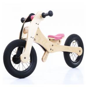 Balansinis dviratukas Trybike Wood 4-in-1, rožinis