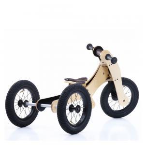 Balansinis dviratukas Trybike Wood 4-in-1, rudas
