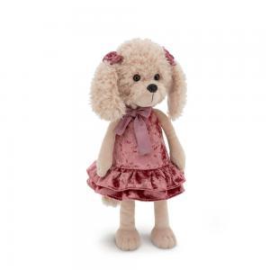 Pliušinis šuniukas Lucky Dolly retro suknele, Orange Toys