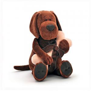 Pliušinis šuniukas su kauliuku Orange Toys, 30 cm