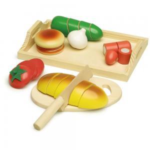 Žaislinis maistas su padėklu (23 dalys)