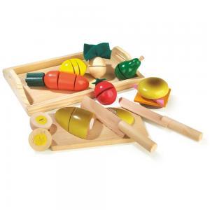 Žaislinis maistas su padėklu (27 dalys)